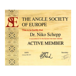 Membership of the Angle Society of Europe